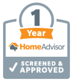 1 Year HomeAdvisor Screened & Approved logo
